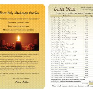 Holy Archangel Candle Company Info Sheet