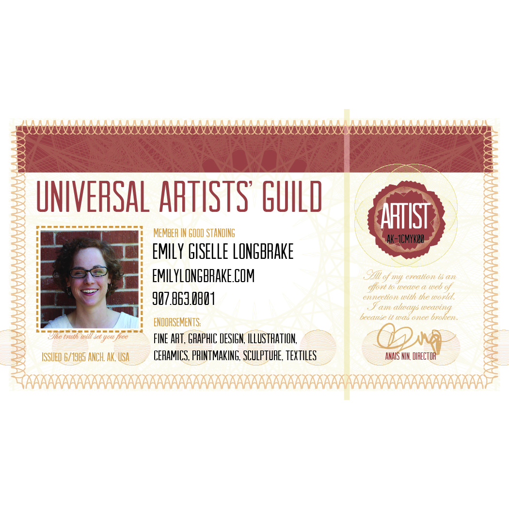 Day 189: Artist ID Card