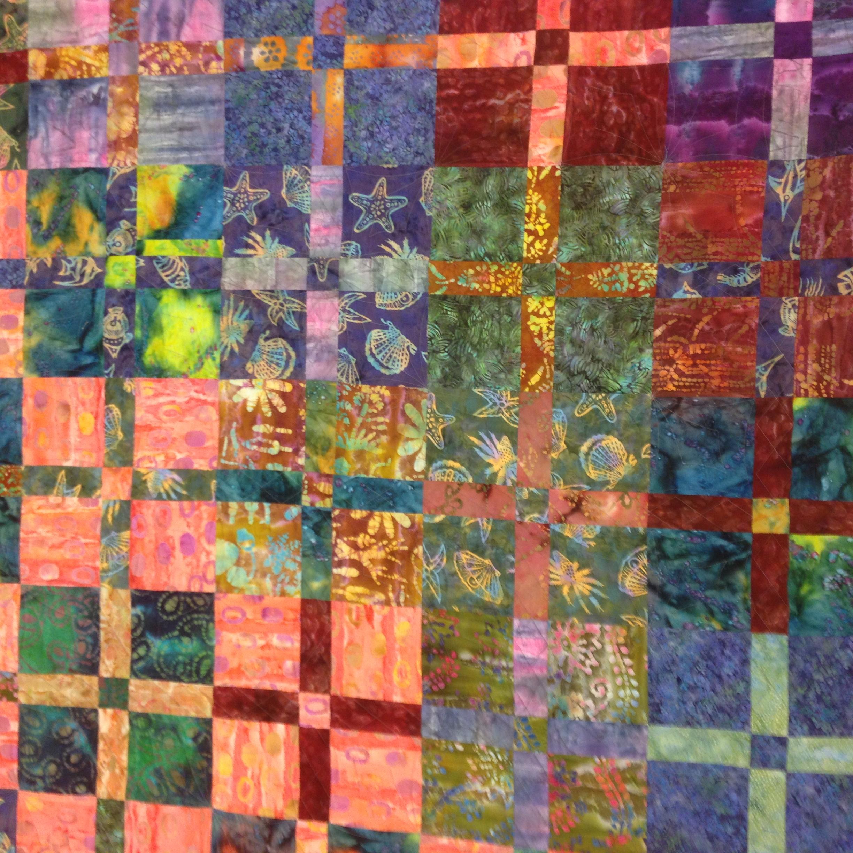 Day 185: Batik Quilt