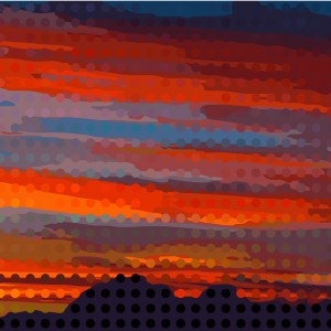 Sunset Object Mosaic 04