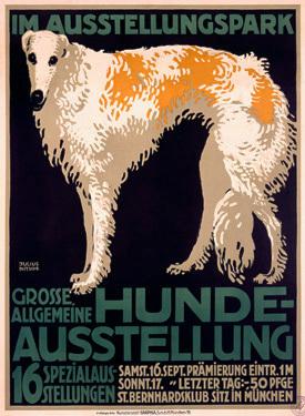 Hunde-Ausstellung-Dog-Expo-Borzoi-Giclee-Art-Print-0000-0663