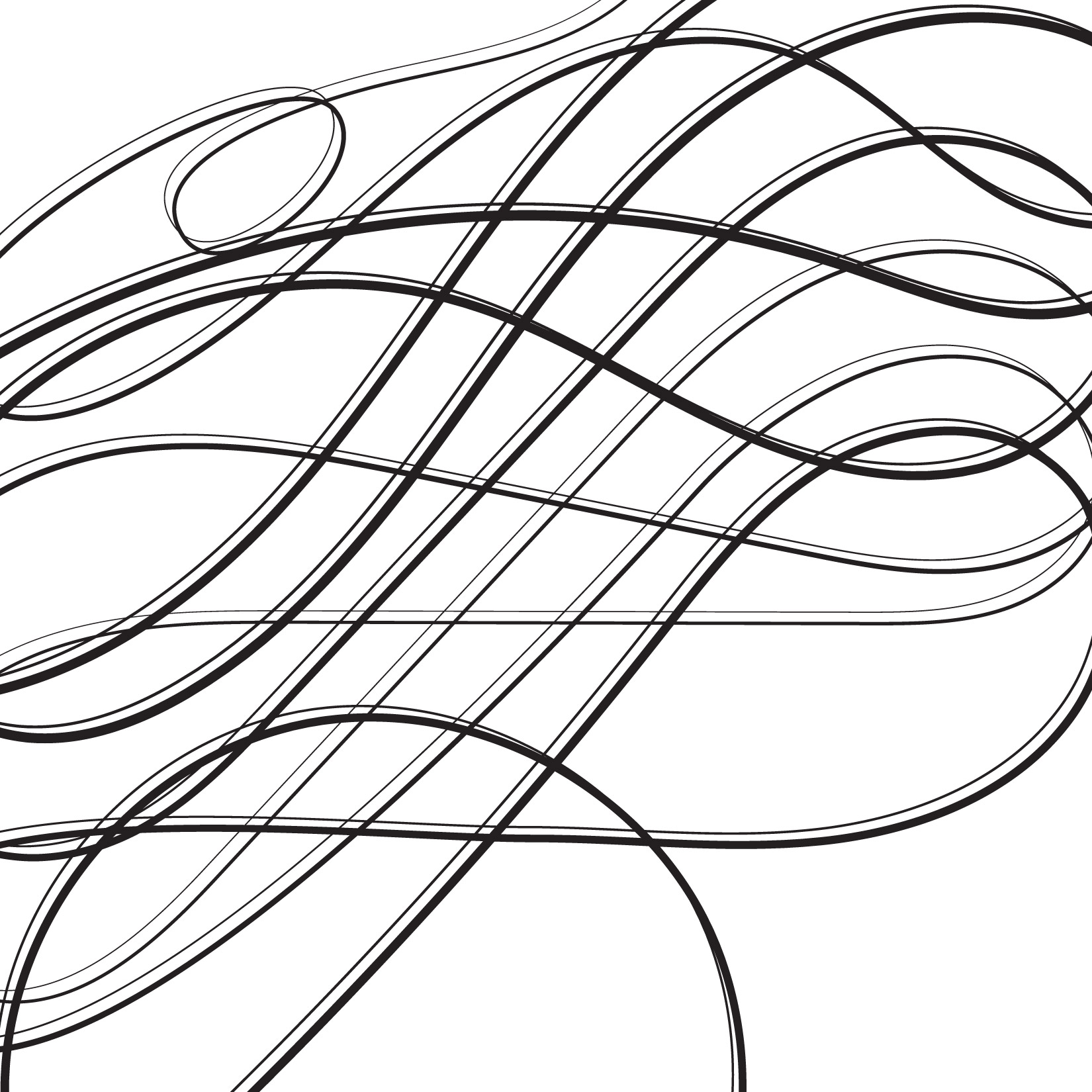 day 310: calligraphic lines