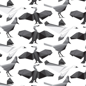 Geometric Bird Patterns 04