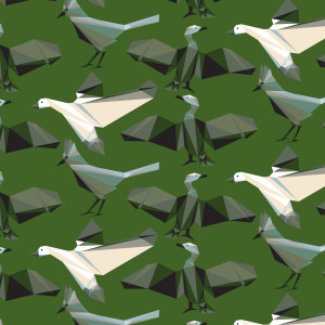 Geometric Bird Patterns 05