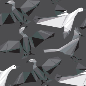 Geometric Bird Patterns 06