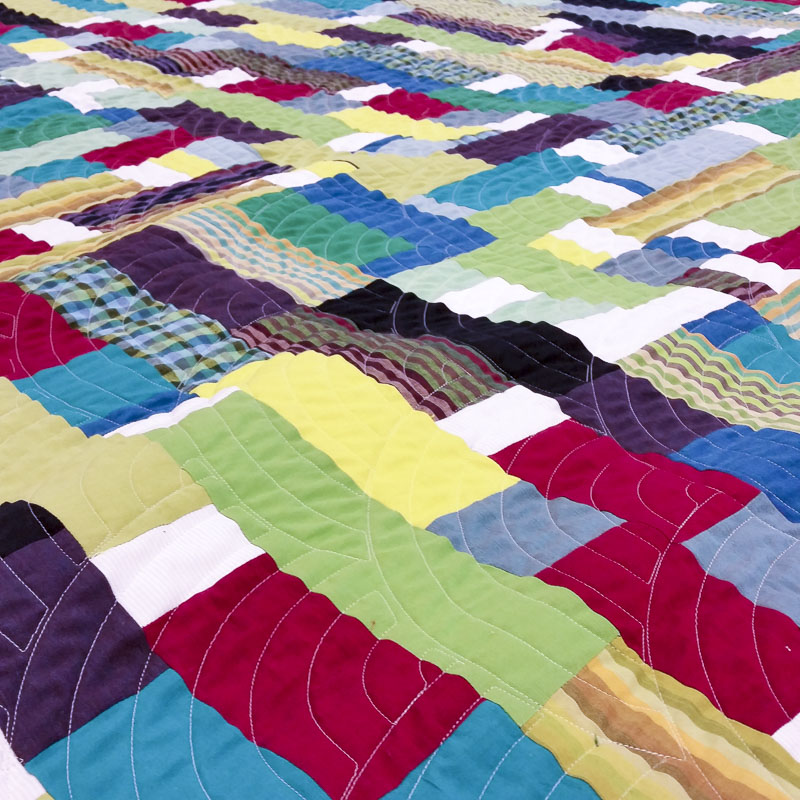 day 345: hot mess quilt