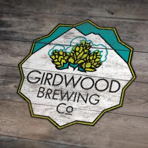 Girdwood Brewing Co Wooden Sign