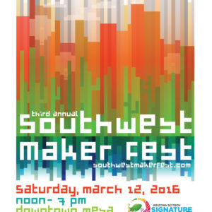 Poster Entry For Emily Longbrake, Southwest Maker Fest Poster Design Contest