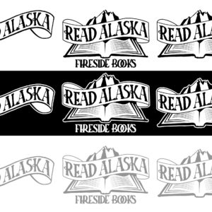 Read Alaska Fireside Books Logo Design 01