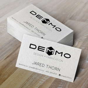 Demmo Business Card Mockup Letterpress
