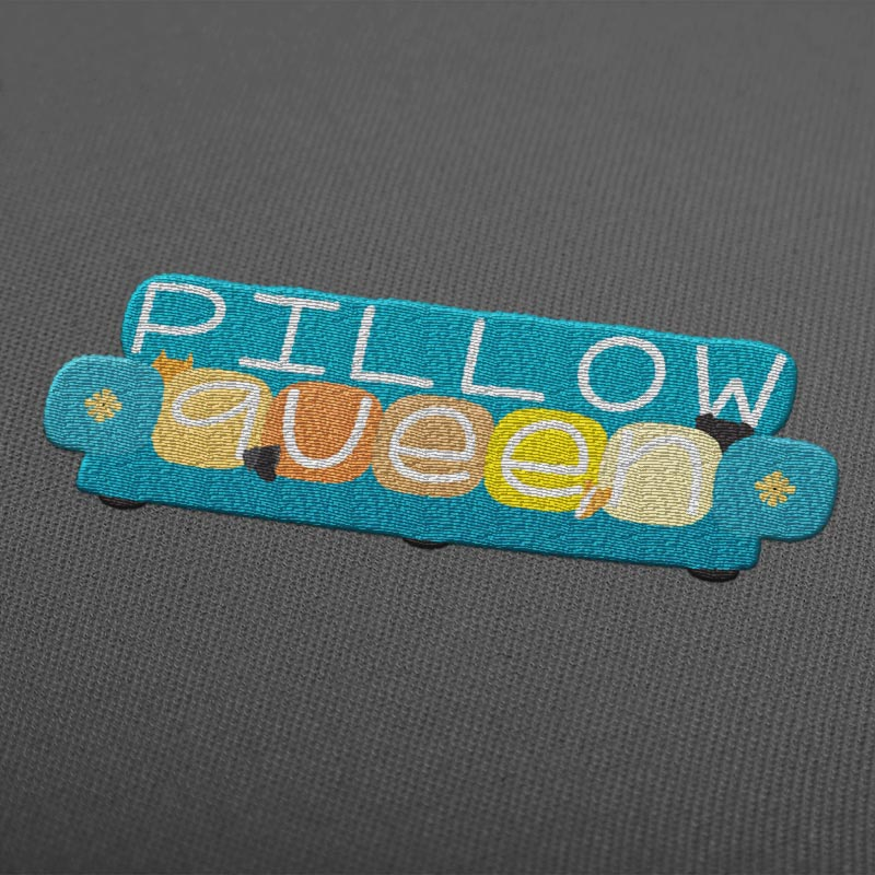 Pillow Queen Embroidery Illustration