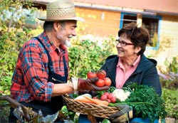 Couple Vegetable Gardening