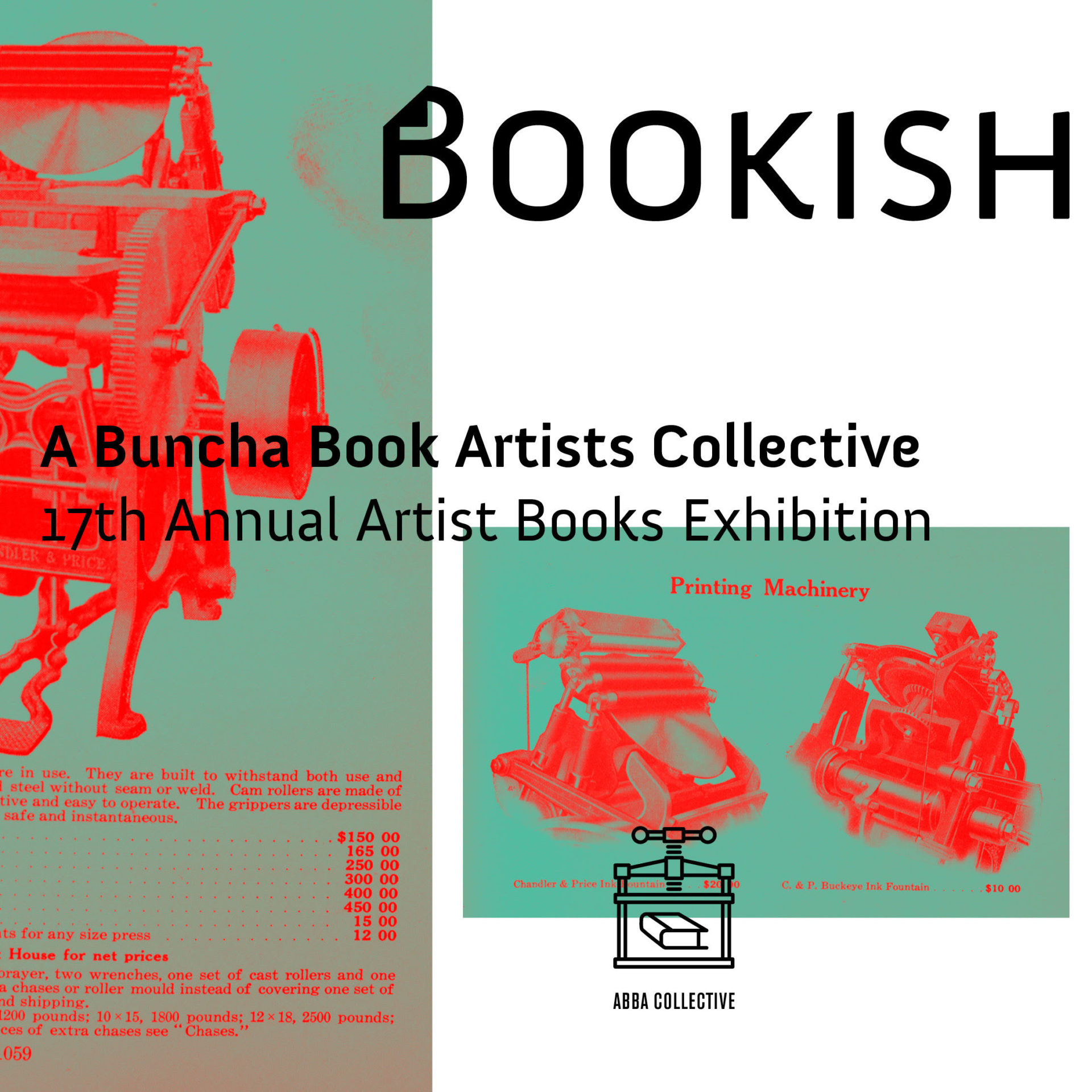 Bookish: A Buncha Book Artists Member Show 2017