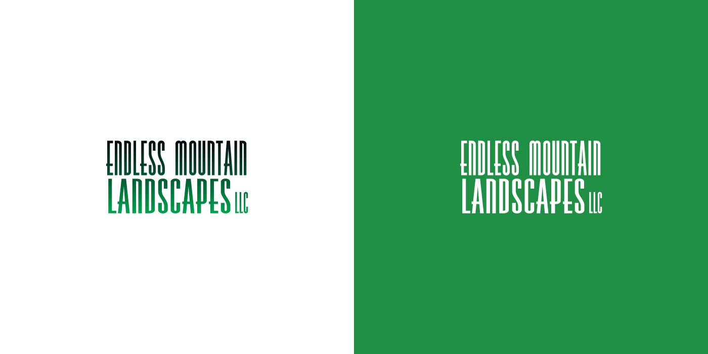 Endless Mountain Landscapes logo design
