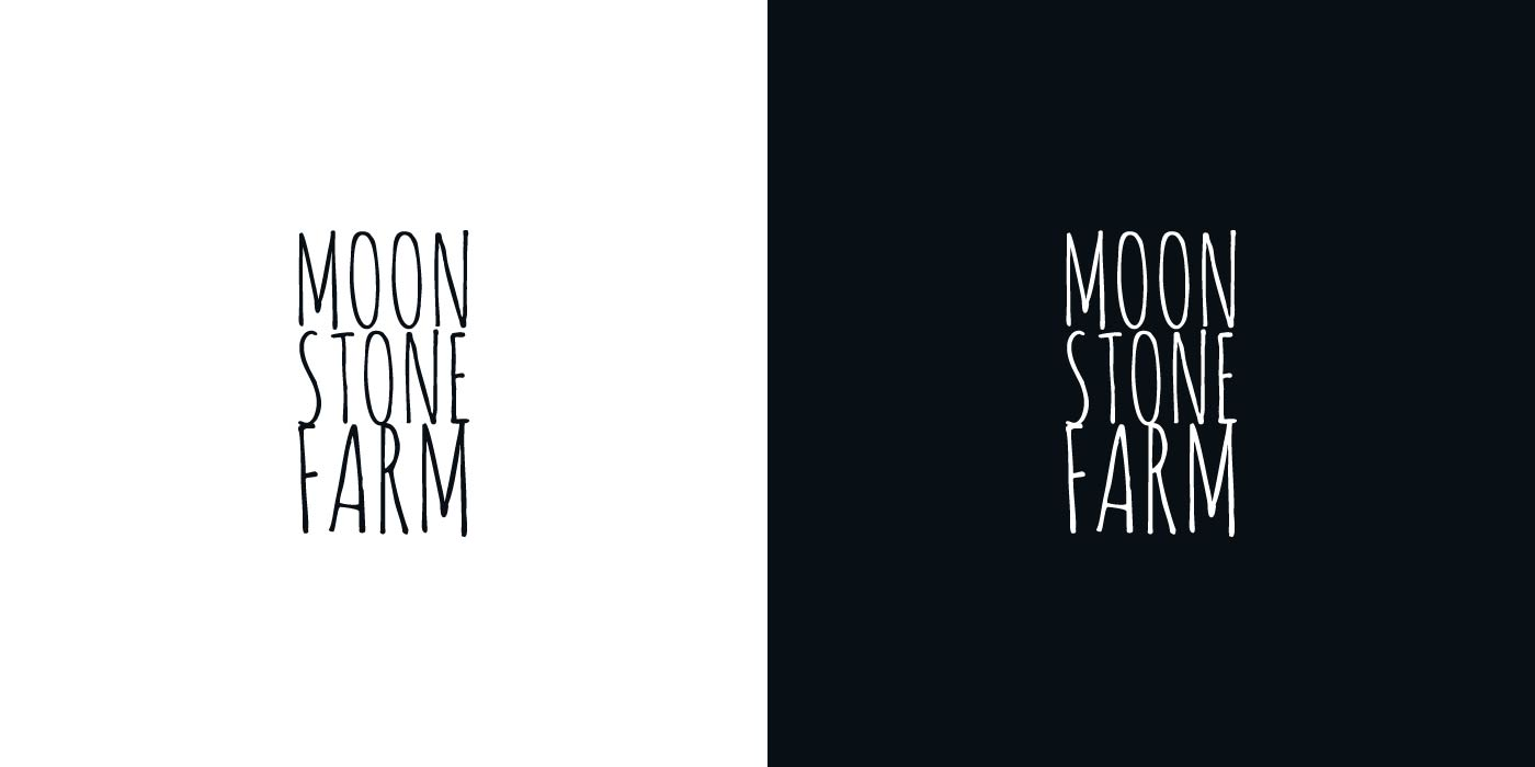 Moonstone Farm logo design