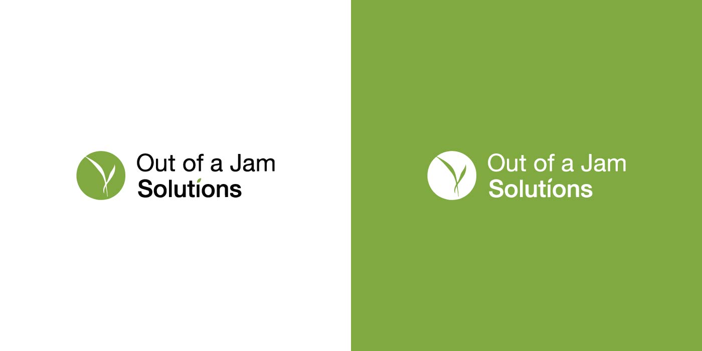 Out of a Jam Solutions logo design