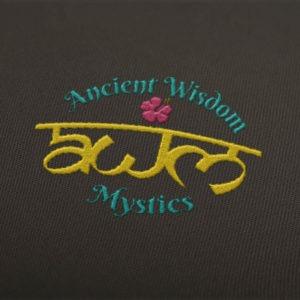 Ancient Wisdom Mystics Embroidery Mockup