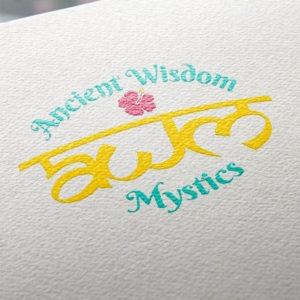 Ancient Wisdom Mystics Screenprinted Logo