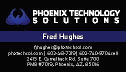 Phoenix Technology Solutions Business Card 1
