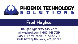 Phoenix Technology Solutions Business Card 2