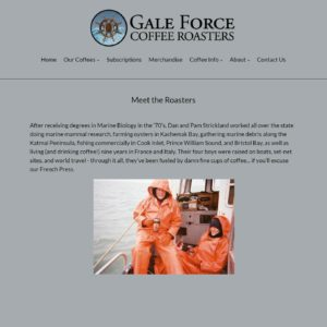Gale Force Coffee Roasters About
