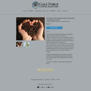 Gale Force Coffee Roasters Item Page