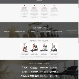 Alaska Fitness Equipment Ecommerce Shop Site 1