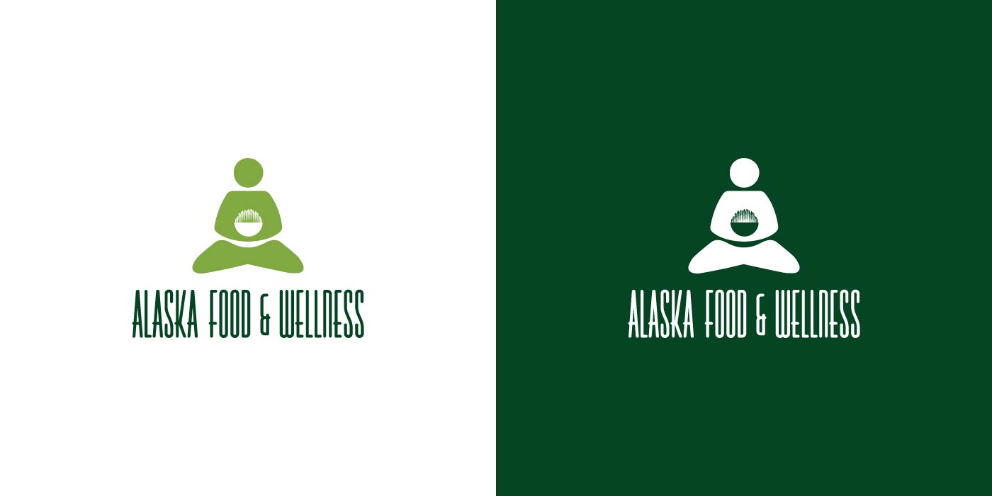 Alaska Food and Wellness logo design