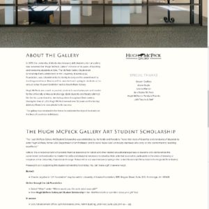 Hugh McPeck Art Gallery Scholarship Site 2