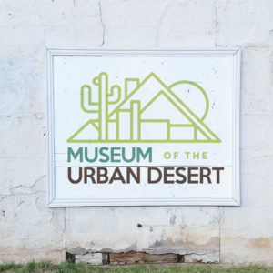 Museum Of The Urban Desert Painted Wall Mockup
