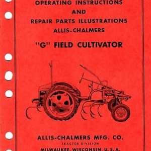 Allis Chalmers G Field Cultivators Operating Parts