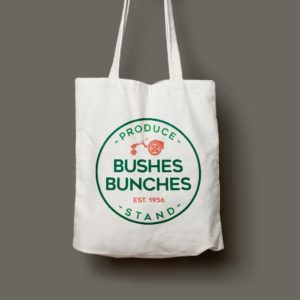 Bushes Bunches Canvas Tote Bag MockUp