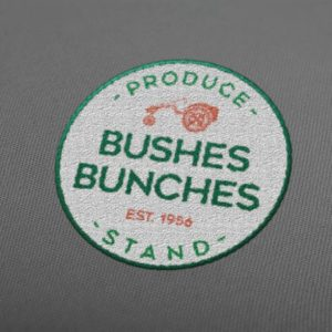 Bushes Bunches Embroidered Logo MockUp