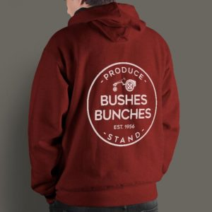 Bushes Bunches Hoodie Mockup