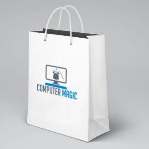 Computer Magic Bag Mockup