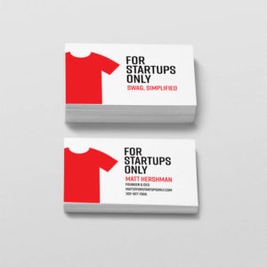 For Startups Only Business Card Mockups