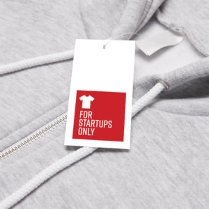 For Startups Only Hoodie Tag Mockup