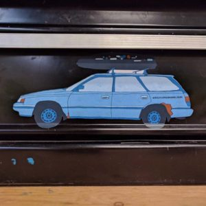Baby Blue Subaru Stickers