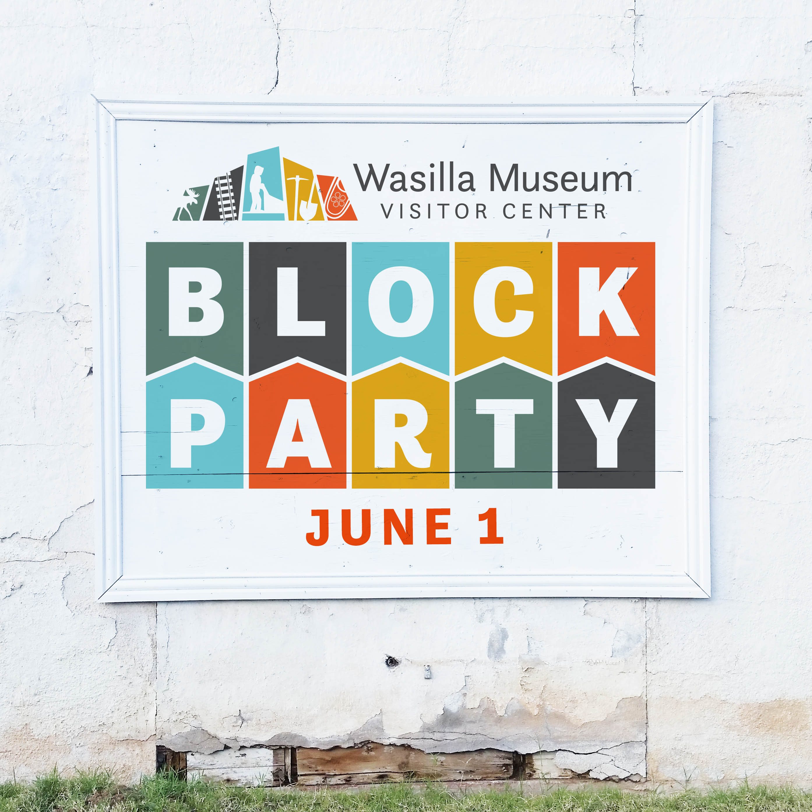 Block Party Wall Mockup
