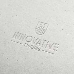 Innovative Funding Logo Mockup On Pressed Cardboard